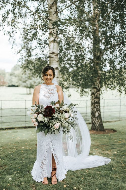 Bride in Grace Loves Lace Gown | Rustic Wedding at Gate Street Barn, Surrey | Kirsty MacKenzie Photography