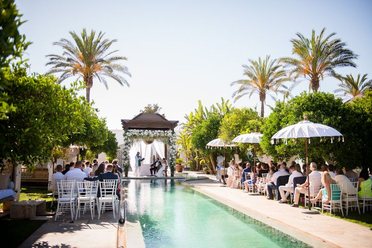 Poolside Outdoor Ibiza Destination Wedding | Gypsy Westwood Photography | Infin8 Film