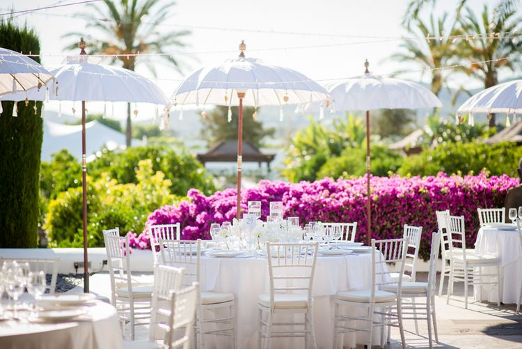 Outdoor Reception | Ibiza Destination Wedding | Gypsy Westwood Photography | Infin8 Film