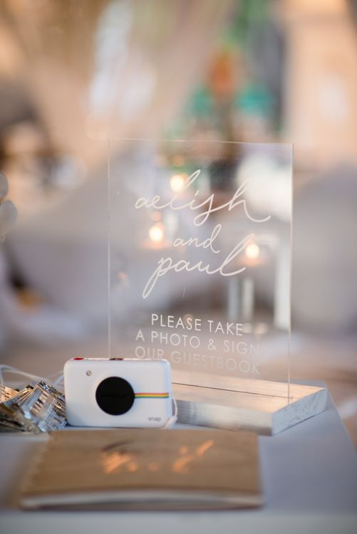 Perspex Guest Book Sign | Outdoor Ibiza Destination Wedding | Gypsy Westwood Photography | Infin8 Film