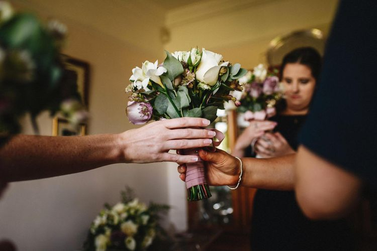 White & Lilac Bridal Bouquet | Andy Gaines Photography