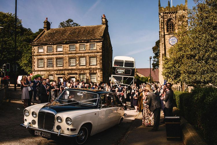 Vintage Wedding Car & Double Decker Bus | Andy Gaines Photography