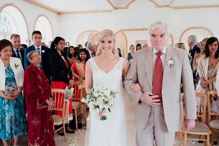 Lace Lusan Mandongus Wedding Dress | English & Asian Wedding at Northbrook Park | Claudia Rose Carter