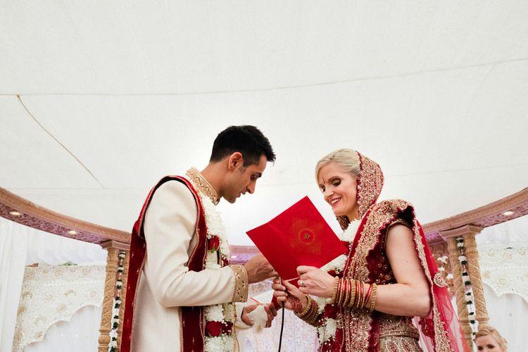 Hindu Ceremony | English & Asian Wedding at Northbrook Park | Claudia Rose Carter