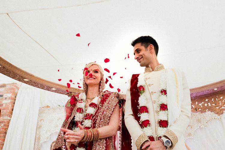 Hindu Wedding Ceremony | English & Asian Wedding at Northbrook Park | Claudia Rose Carter