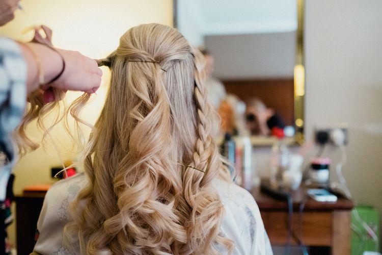 Wavy Bridal Hair | English & Asian Wedding at Northbrook Park | Claudia Rose Carter