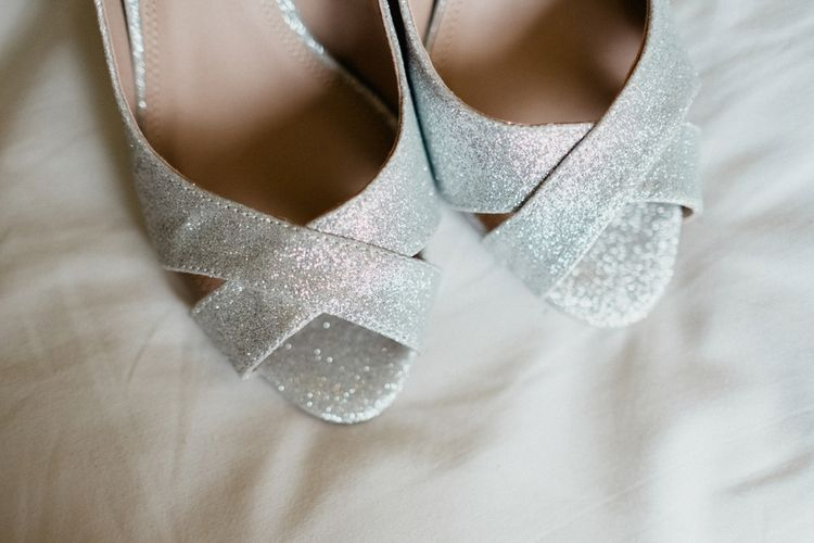 Peep Toe Bridal Shoes | English & Asian Wedding at Northbrook Park | Claudia Rose Carter