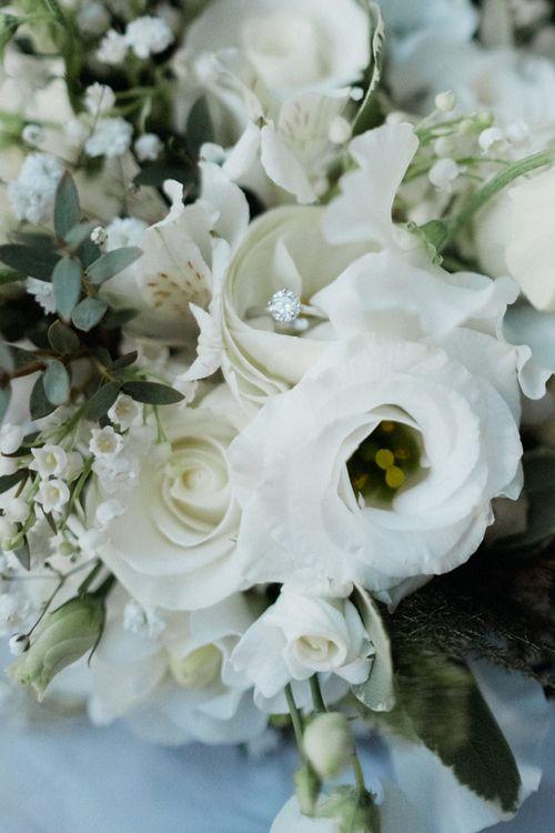 White Wedding Flowers | English & Asian Wedding at Northbrook Park | Claudia Rose Carter