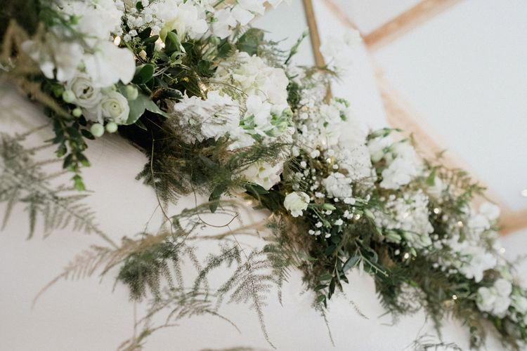 White & Green Wedding Flowers | English & Asian Wedding at Northbrook Park | Claudia Rose Carter
