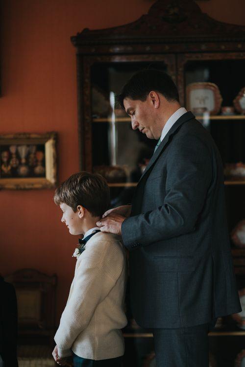 Groom & Page Boy Getting Ready | Errol Park Wedding Venue, Scotland | Jen Owens Images