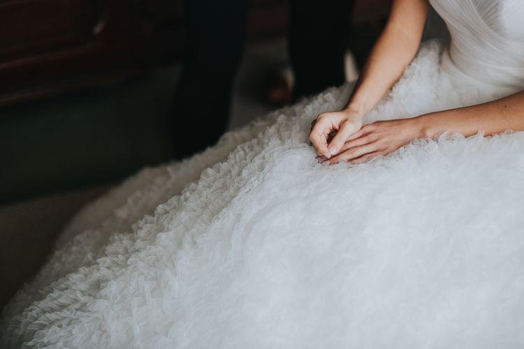 Bride in Pronovias Gown | Errol Park Wedding Venue, Scotland | Jen Owens Images