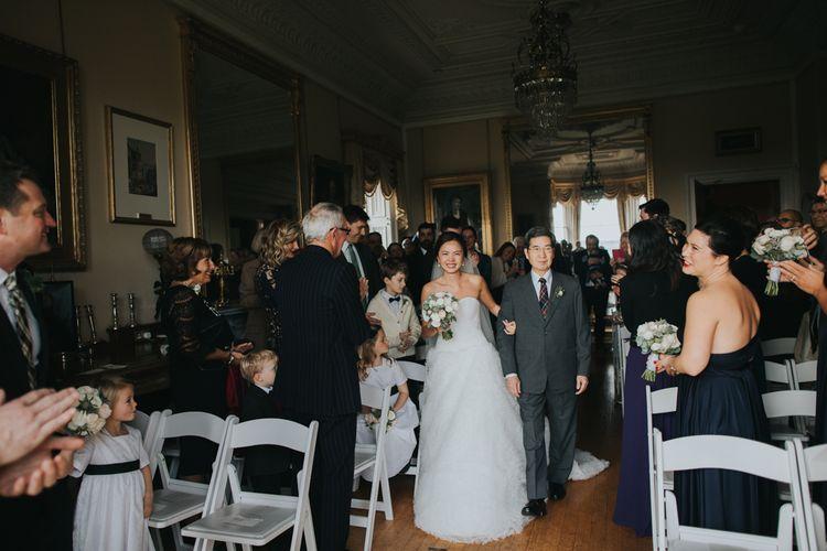 Bridal Entrance | Pronovias Gown | Wedding Ceremony | Errol Park Wedding Venue, Scotland | Jen Owens Images