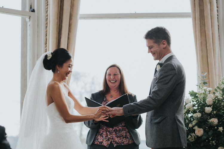 Bride & Groom | Vows | Wedding Ceremony | Errol Park Wedding Venue, Scotland | Jen Owens Images