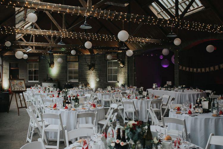 Scottish Tartan & Chinese Influence Wedding Decor | Errol Park Wedding | Jen Owens Images