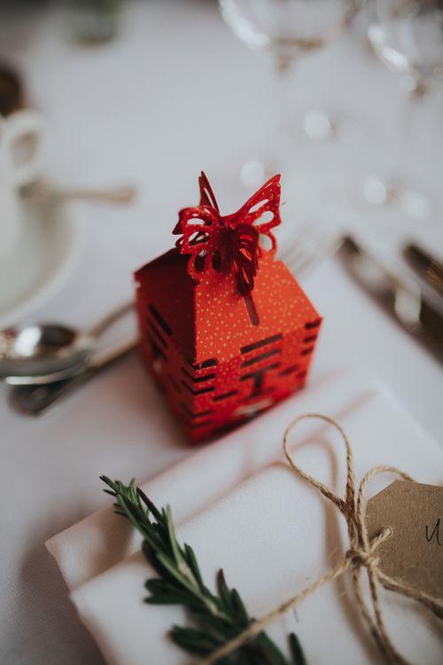 Chinese Wedding Favour Box | Errol Park Wedding | Jen Owens Images