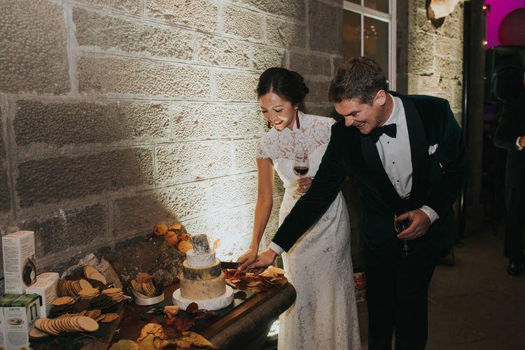 Cheese Tower Wedding Cake | Errol Park Wedding | Jen Owens Images
