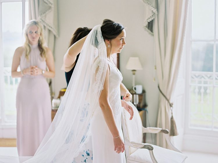 Bridal Preparations | Bride in Rose & Delilah Gown | David Jenkins Photography | Confetti & Silk Films