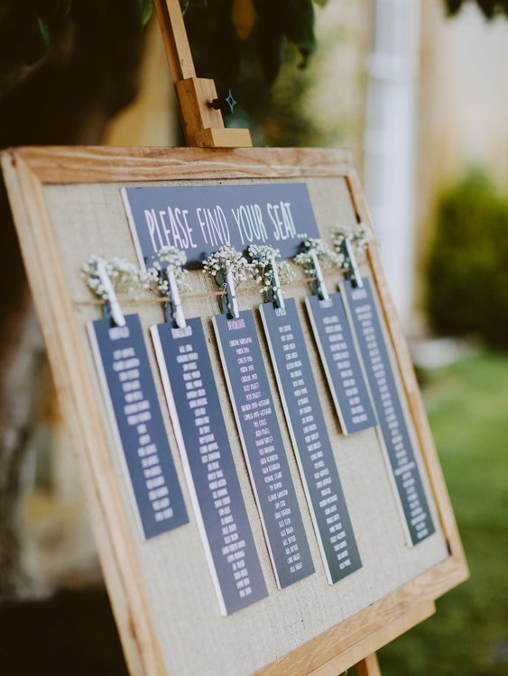 Table Plan | An Elegant Summer Wedding at North Cadbury Court in Somerset | David Jenkins Photography | Confetti & Silk Films