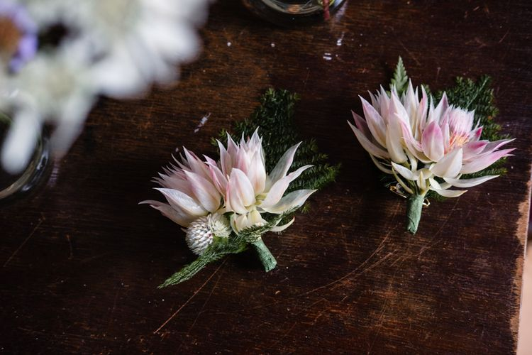 Buttonhole | Chic London Wedding at St Bartholomew the Great Church & St John Bar & Restaurant | Helen Abraham Photography