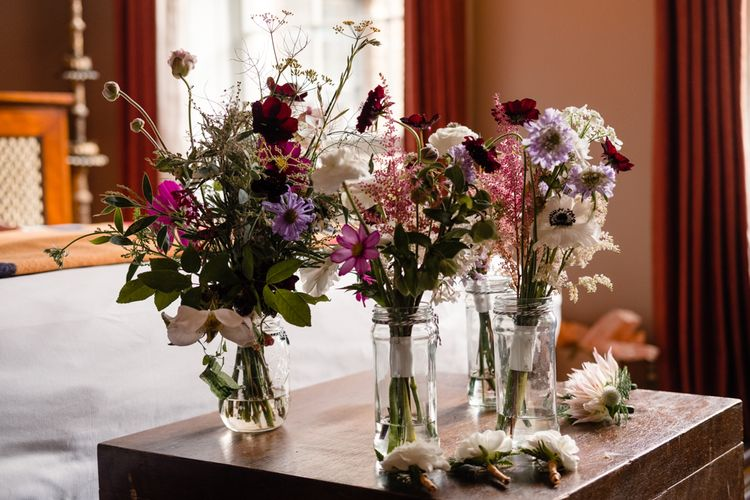 Wild Flowers Wedding Bouquets | Chic London Wedding at St Bartholomew the Great Church & St John Bar & Restaurant | Helen Abraham Photography