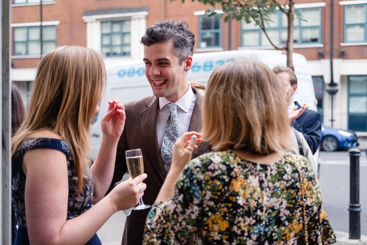 Wedding Guests | Chic London Wedding at St Bartholomew the Great Church & St John Bar & Restaurant | Helen Abraham Photography
