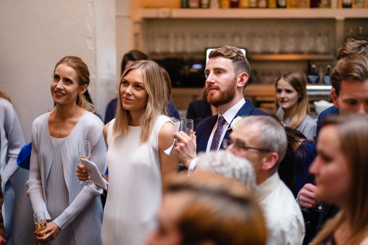 Speeches | Chic London Wedding at St Bartholomew the Great Church & St John Bar & Restaurant | Helen Abraham Photography