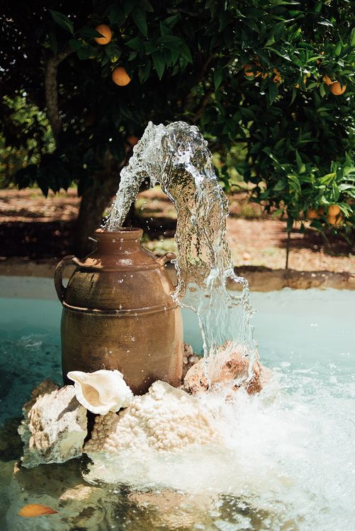 Water feature | Ibiza Wedding | Liberty Pearl Photography