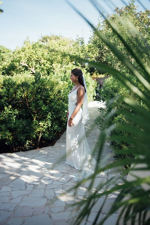 Dress designed by the bride | Ibiza Wedding | Liberty Pearl Photography
