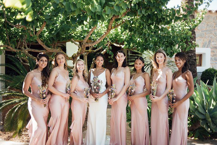 Dried Flowers | Asos Bridesmaids | Ibiza Wedding | Liberty Pearl Photography