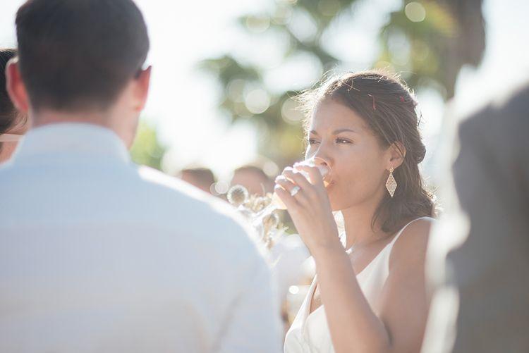 Champagne reception | Ibiza Wedding | Liberty Pearl Photography