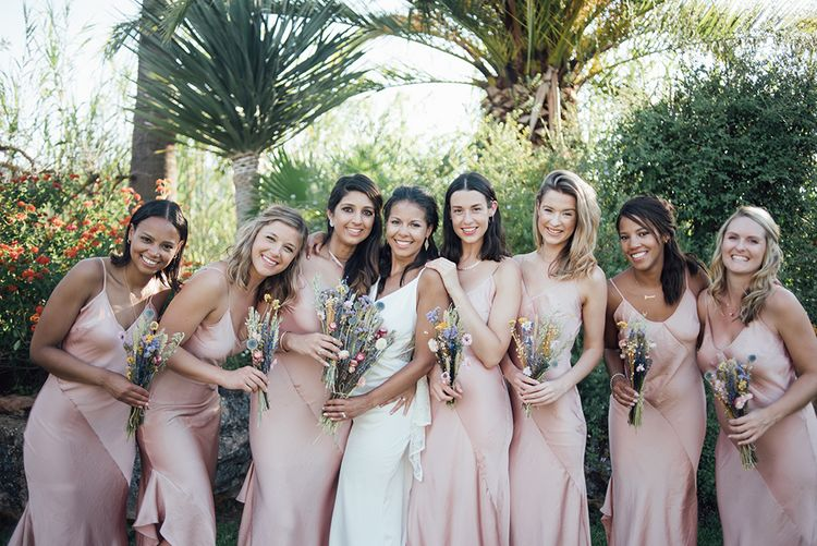 The bride and her bridesmaids | Asos | Ibiza Wedding | Liberty Pearl Photography
