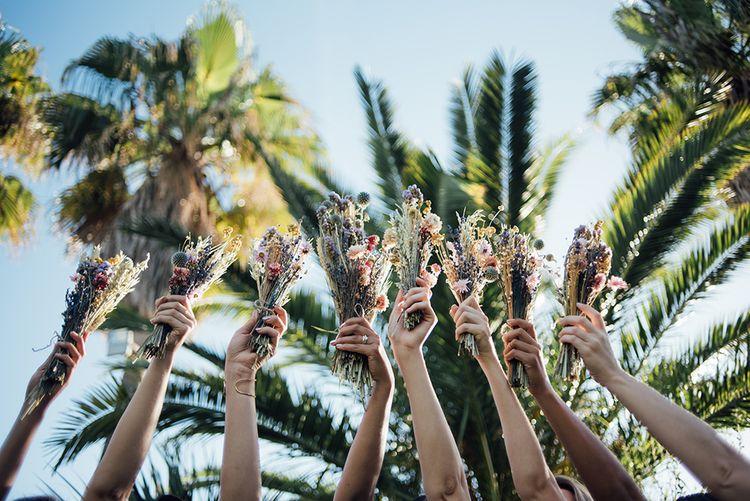 Dried Flowers | Ibiza Wedding | Liberty Pearl Photography