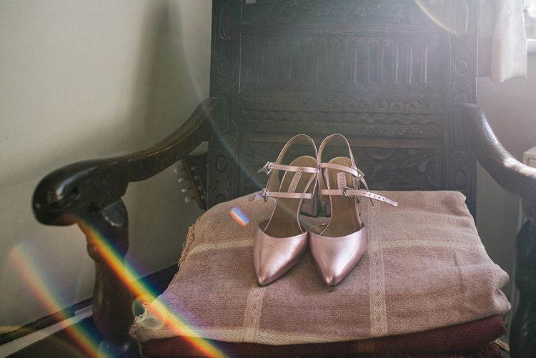 Rose Gold Bridal Shoes   Jacqui McSweeney Photography   KiteBox Films