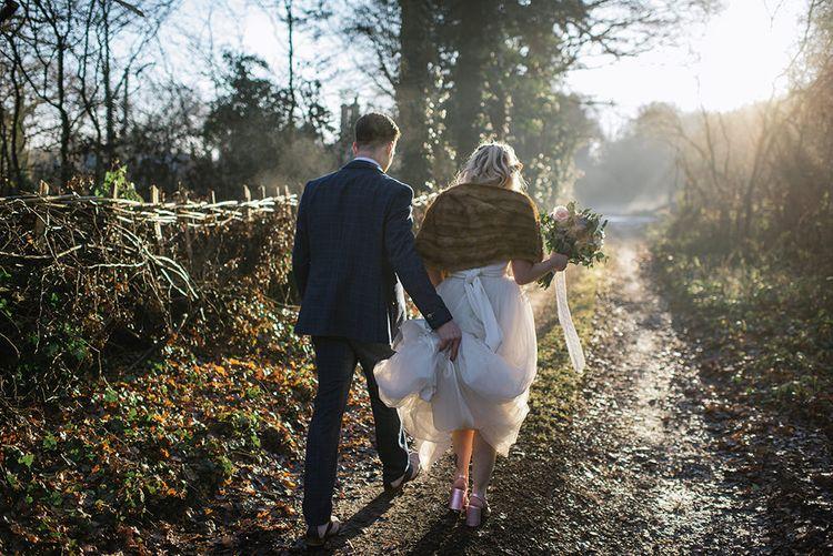 Bride in Halfpenny London Bridal Separates   Groom in Pendulum Menswear Suit   Jacqui McSweeney Photography   KiteBox Films
