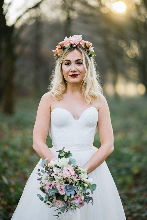 Bride in Halfpenny London Bridal Separates   Jacqui McSweeney Photography   KiteBox Films