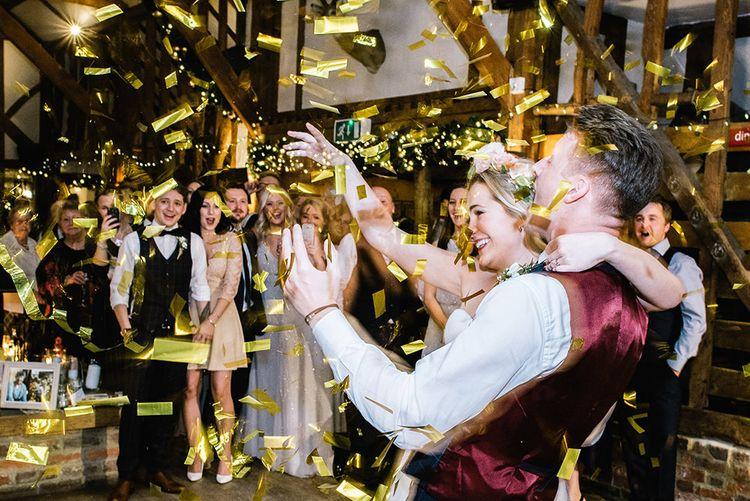 Confetti Bomb First Dance   Bride in Halfpenny London Bridal Separates   Groom in Pendulum Menswear Suit   Jacqui McSweeney Photography   KiteBox Films