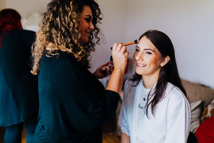 Bridal Preparations | Stylish Woodland Wedding in Cheshire | Clara Cooper Photography | Story Board Weddings Films