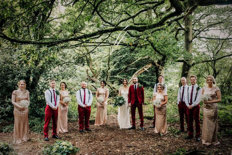Wedding Party | Stylish Woodland Wedding in Cheshire | Clara Cooper Photography | Story Board Weddings Films