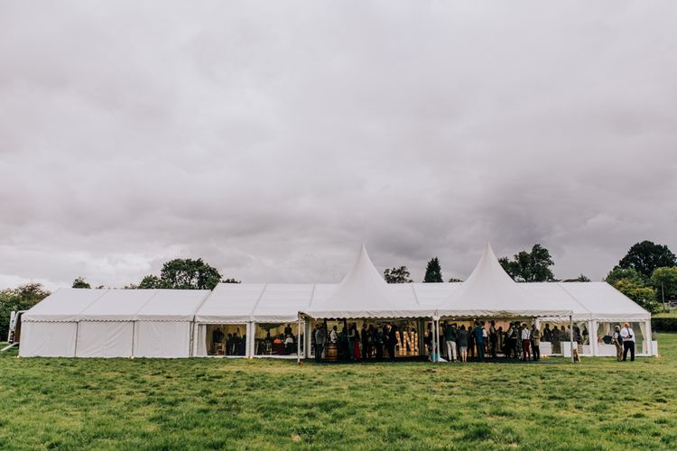 Marquee Reception | Stylish Woodland Wedding in Cheshire | Clara Cooper Photography | Story Board Weddings Films