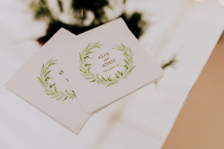 Beija Flor Studio Wedding Stationery | Stylish Woodland Wedding in Cheshire | Clara Cooper Photography | Story Board Weddings Films