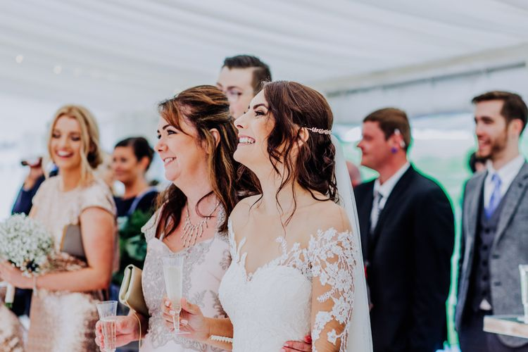 Speeches | Bride in Rosa Clara Naim Bridal Gown | Stylish Woodland Wedding in Cheshire | Clara Cooper Photography | Story Board Weddings Films