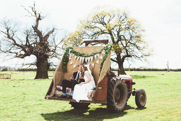 Wedding Tractor Ride