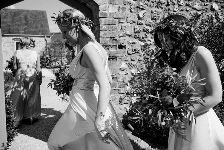 Bridesmaids In Grey Biba Dresses