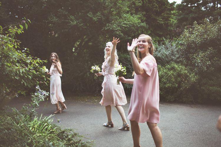 Blush Pink Highstreet Mis-match Bridesmaid Dresses