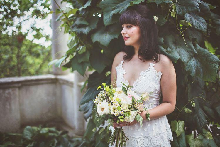 Bride in Lace Self Portrait Dress from Harrods