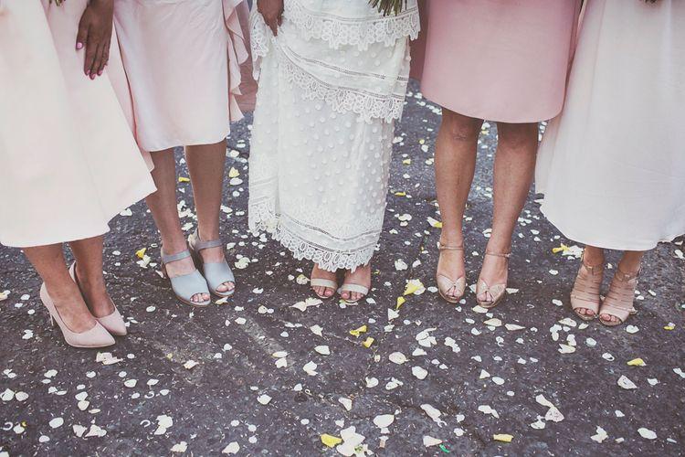 Bridesmaid Shoes & Confetti