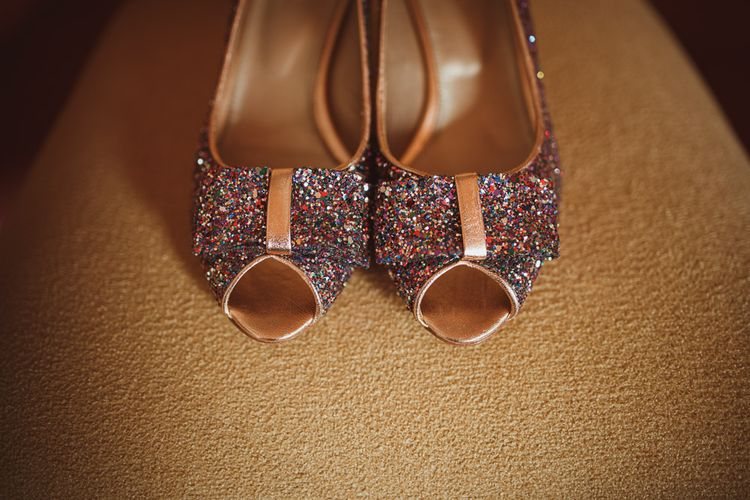 Sparkly Glitter Wedding Shoes