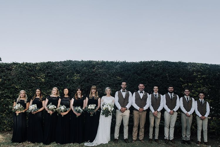 Wedding Party | Sophisticated White & Green Colour Scheme for an Outdoor Australian Wedding at Summer Grove | Photography & Film by Mad Rose Films