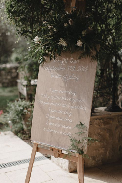 Foliage Covered Wedding Sign