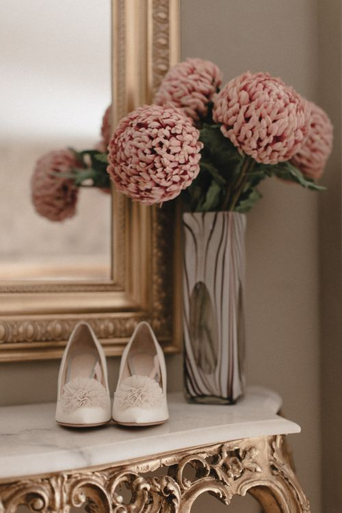 Charlotte Olympia Pompom Wedding Shoes